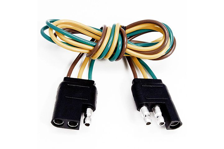 3 way flat molded trailer connectors rh wiringdepot com 12 Pin Wiring Harness 5 Pin Wiring Harness