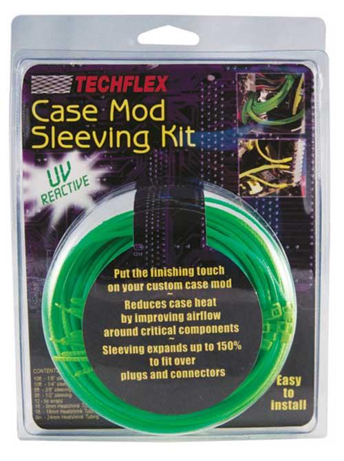 c25e803e573e JT&T (CMKN5) - Deluxe UV Reactive Case Mod Sleeving Kit, Neon Green, 19 Pcs.