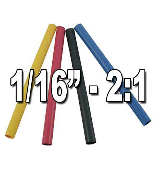 "1/16"" 2:1 Single/Thin Wall Heat Shrink Polyolefin Tubing"