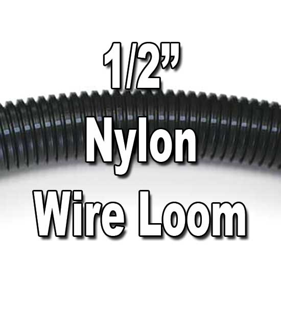 "1/2"" Diameter NYLON Split Wire Loom Flex-Guard Convoluted Tubing  1/2"" Diameter NYLON Split Wire Loom Flex-Guard Convoluted Tubing"