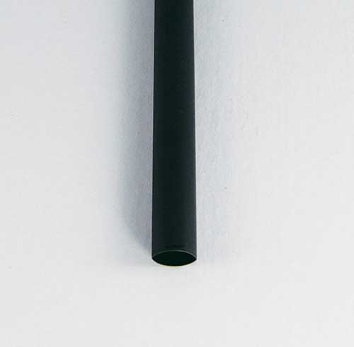 "1"" Black 2 to 1 Dual/Thin-Wall Adhesive Lined Heat Shrink Tubing"