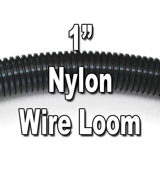 "1"" Diameter NYLON Split Wire Loom Flex-Guard Convoluted Tubing 1"" Diameter NYLON Split Wire Loom Flex-Guard Convoluted Tubing"