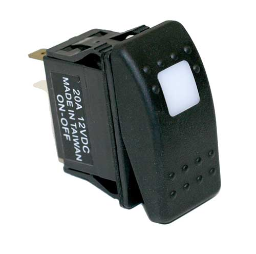 20 amp   12 volt s p s t  carling style rocker switches