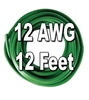 Automotive Primary Wire, 12 AWG, 12 Ft. Cut