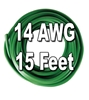 Automotive Primary Wire, 14 AWG, 15 Ft. Cut