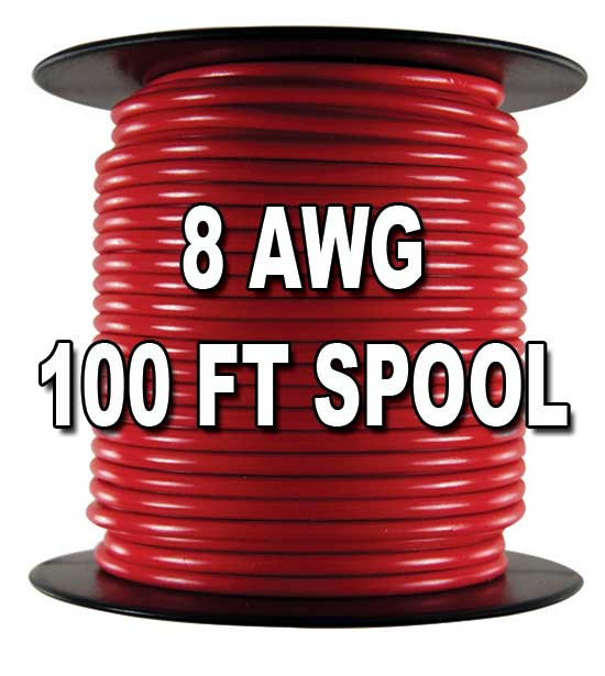 Automotive Primary Wire 8 Awg 100 Ft Spool