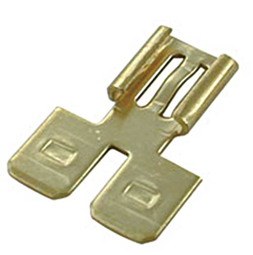 Female To Double Male Tab Flat Adapter