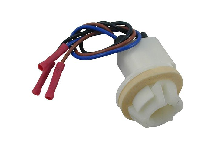 3-Wire Ford Double Contact Turn & Parking Light Socket w/ Butt Terminated Wires.