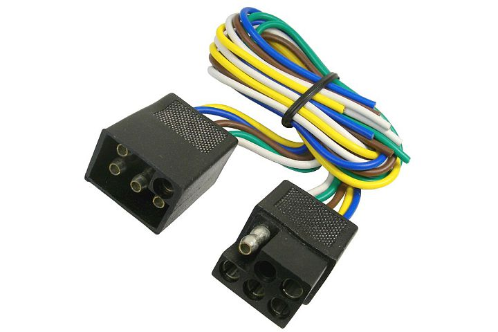 JT&T (2513F) 5-Way Squared Moisture Proof FM & 5-Way Squared Moisture Proof M Trailer Connectors w/ Polarized Plugs, 1 Pc. JT&T (2513F) 5-Way Squared Moisture Proof FM & 5-Way Squared Moisture Proof M Trailer Connectors w/ Polarized Plugs, 1 Pc.