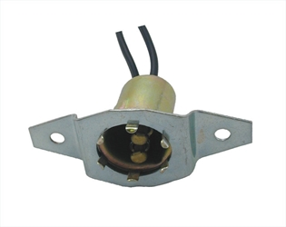 2-Wire Universal Double Contact Back-Up, Park, Stop, Tail & Turn Light Socket w/ Offset 'Screw Type' Mounting Plate.