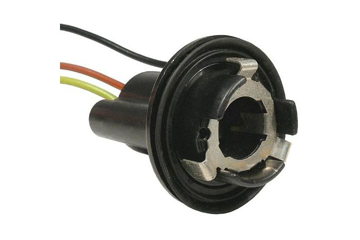 3-Wire GM Double Contact Park, Stop, Tail & Turn 'Twist Lock' Light Socket w/ Weatherproof Seal.