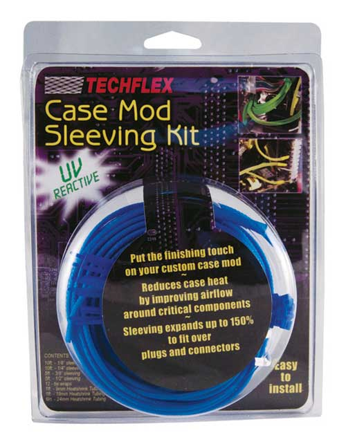 CMKN6 (CMK0.00NB) Neon Blue - Case Mod® Kit - 19 Pcs. • UV Reactive Sleeving
