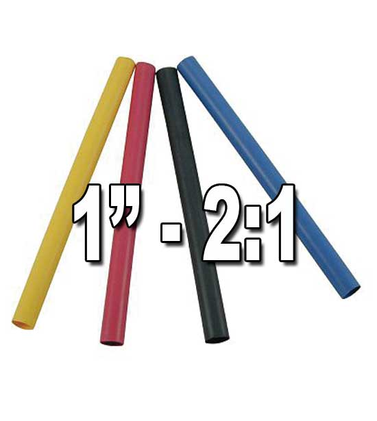 "1"" 1"" (1.000"") 25.40mm 2 to 1 Single/Thin-Wall Polyolefin Heat Shrink Tubing"