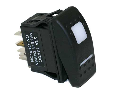 20 AMP      12       Volt    SPDT Carling Style Rocker Switches
