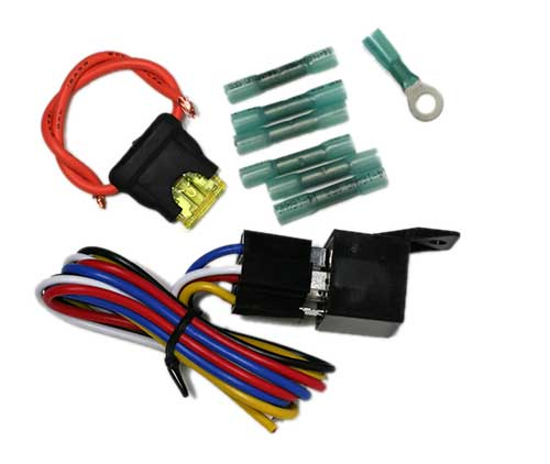 2843F Relay Installation Kit with Pigtail, Fuse Holder, and Terminals 2843F Relay Installation Kit with Pigtail, Fuse Holder, and Terminals