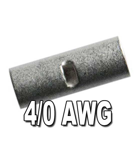 H.D. Seamless Tin-Plated Copper Butt Connectors 4/0 AWG