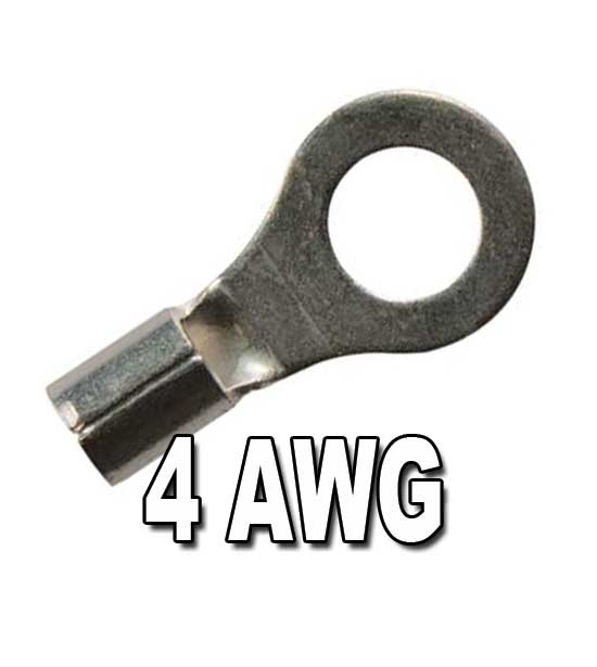 4 awg non insulated ring terminals. Black Bedroom Furniture Sets. Home Design Ideas