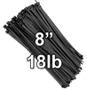 "8"" Nylon Wire Ties - 18lb Tensile Strength, Qty 100 - SALE! 8"" Nylon Wire Ties - 18lb Tensile Strength - SALE!"