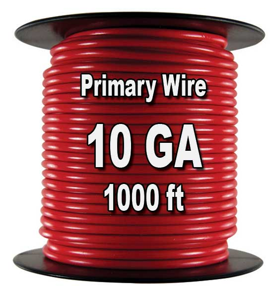 Automotive Primary Wire, 10 AWG, 1,000 Ft