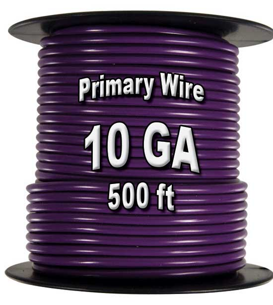 Automotive Primary Wire, 10 AWG, 500 Ft. Spool