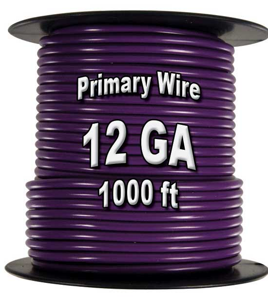 Automotive Primary Wire, 12 AWG, 1,000 Ft. Spool