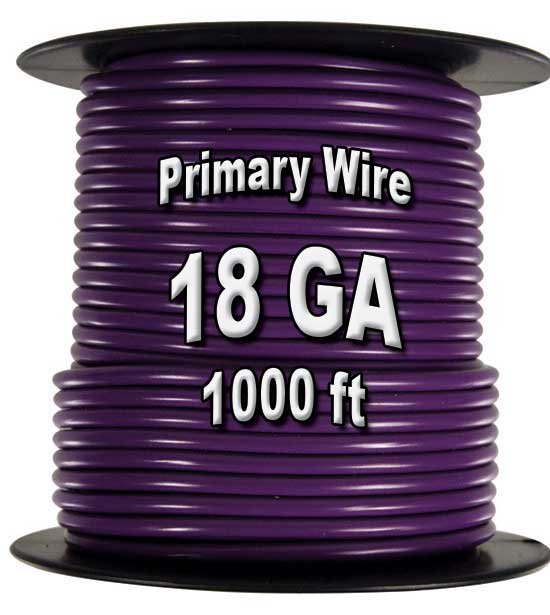Automotive Primary Wire, 18 AWG, 1,000 Ft. Spool