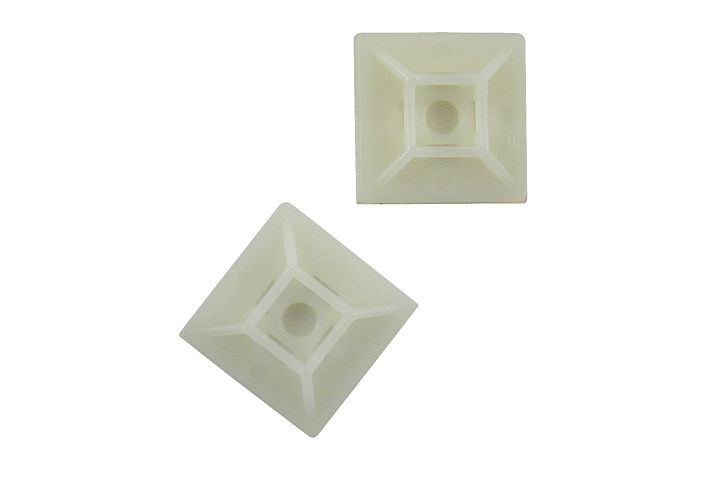 4-Way Cable Tie Mounts - Nylon natural