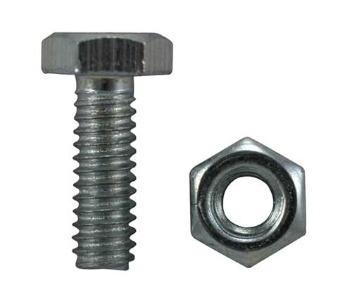 Garden Tractor Bolt with Nut