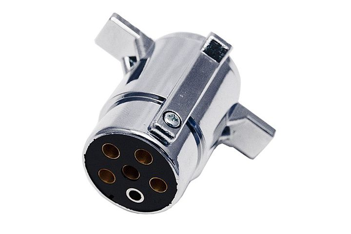 JT&T (2508-2F) 6-Pole Round FM Socket (Trailer End) Trailer Plug Connector, 1 Pc. JT&T (2508-2F) 6-Pole Round FM Socket (Trailer End) Trailer Plug Connector, 1 Pc.