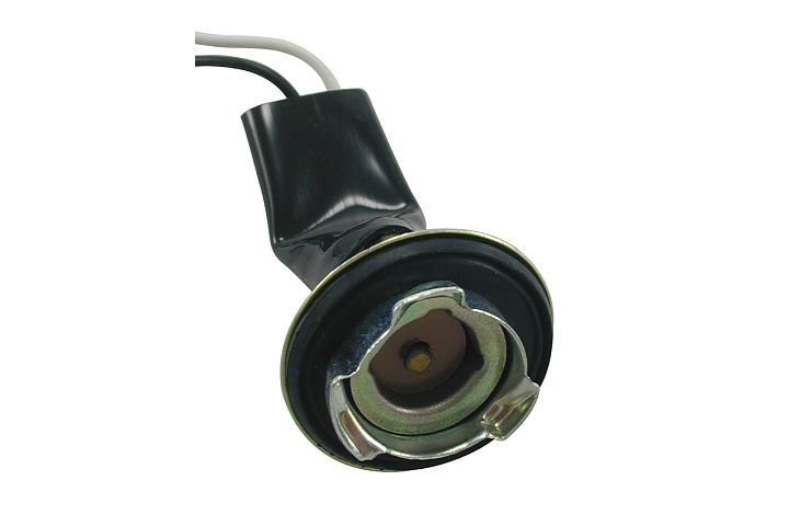 2-Wire Chrysler Single Contact Back-Up, Cornering & Side Marker Light Socket w/ Weather Resistant Neoprene Boot. 1974 - 1993. Replaces Chrysler #3764863, 3764865,