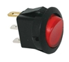 JT&T (2700-2J) - 16 AMP @ 12 Volt Illuminated On/Off Round Rocker Switch, Red, 1 Pc.