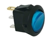 JT&T (2700-6J) - 16 AMP @ 12 Volt Illuminated On/Off Round Rocker Switch, Blue, 1 Pc.
