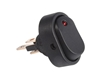 JT&T (2703-2J) - 16 AMP @ 12 Volt, Illuminated On/Off Oval Rocker Switch, Red LED, 1 Pc.