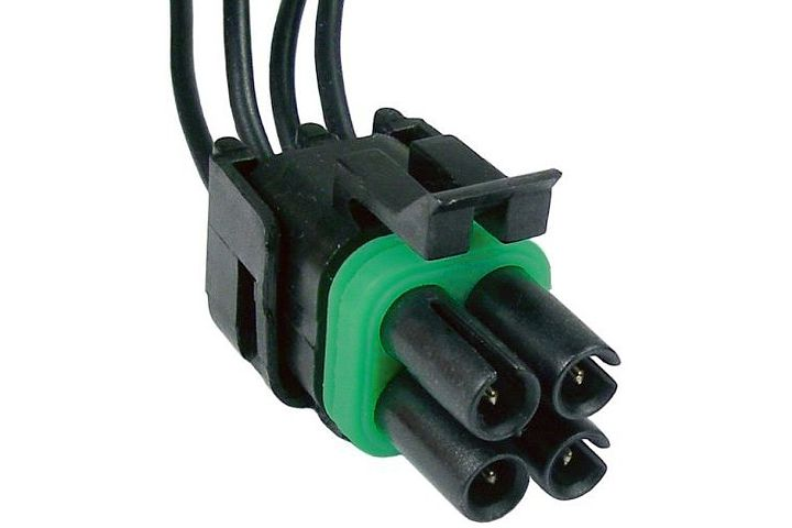 4-Wire GM Idle Air Control (IAC) Valve Connector for Vehicles w/ Fuel Injection.