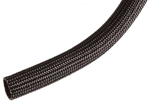 Black Braided Fiberglass Sleeving