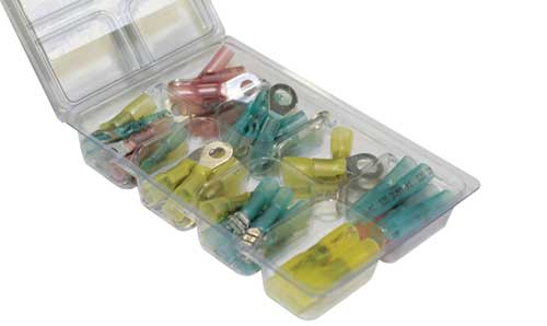 60 Pcs. Heat Shrink Solder Seal Terminal Kit