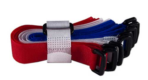 Strip-Ties - Hook & Loop Velcro Fastener with Buckle