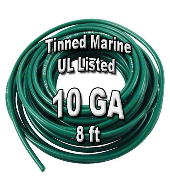 Tinned Marine Wire, 10 GA, 8ft Tinned Marine Wire, 10 GA, 8ft