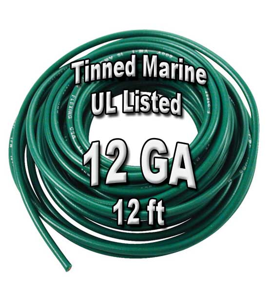 Tinned Marine Wire, 12 GA, 12ft Tinned Marine Wire, 12 GA, 12ft