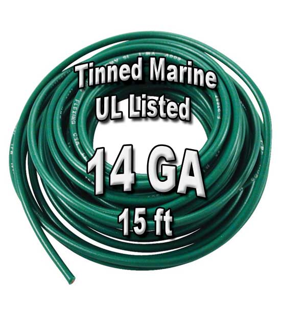 Tinned Marine Wire, 14 GA, 15ft Tinned Marine Wire, 14 GA, 15ft