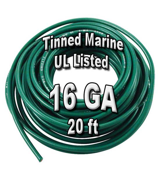 Tinned Marine Wire, 16 GA, 20ft Tinned Marine Wire, 16 GA, 20ft